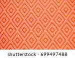 thai fabric of gold handicraft...   Shutterstock . vector #699497488