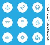 army outline icons set.... | Shutterstock .eps vector #699501928