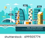 concept of real estate business ... | Shutterstock .eps vector #699505774