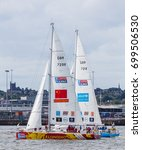 qingdao and unicef clipper...   Shutterstock . vector #699506530