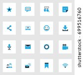 media colorful icons set.... | Shutterstock .eps vector #699516760