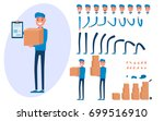 courier character creation set... | Shutterstock .eps vector #699516910