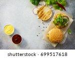a delicious fresh homemade...   Shutterstock . vector #699517618