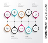 climate outline icons set.... | Shutterstock .eps vector #699518020