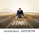 young determined businessman... | Shutterstock . vector #699518758