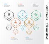 person outline icons set.... | Shutterstock .eps vector #699518854