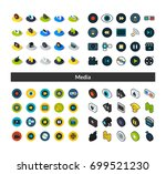 set of icons in different style ...