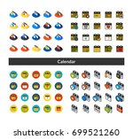 set of icons in different style ... | Shutterstock .eps vector #699521260