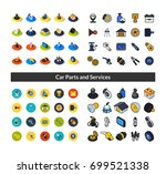 set of icons in different style ... | Shutterstock .eps vector #699521338