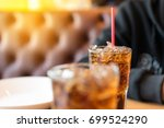 double soft drink carbonated... | Shutterstock . vector #699524290
