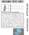 preschool education. puzzle for ... | Shutterstock .eps vector #699526168