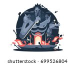 character of hades god death.... | Shutterstock .eps vector #699526804