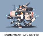 exoskeleton medical for complex ... | Shutterstock .eps vector #699530140