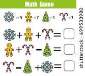 mathematics educational game... | Shutterstock .eps vector #699533980