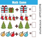 math educational game for... | Shutterstock .eps vector #699533998