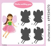 shadow matching game for... | Shutterstock .eps vector #699534070