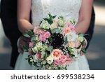 beautiful bright wedding... | Shutterstock . vector #699538234