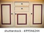 the door of a vintage kitchen... | Shutterstock . vector #699546244