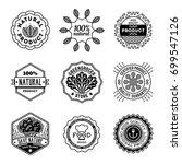 simple mono lines logos... | Shutterstock .eps vector #699547126