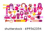 bright colors on a white... | Shutterstock .eps vector #699562354