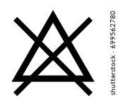 symbol do not bleach icon . | Shutterstock .eps vector #699562780