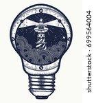 lighthouse in a lightbulb ...   Shutterstock .eps vector #699564004