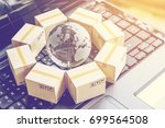 international freight or... | Shutterstock . vector #699564508