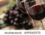 italian red wine tasting and... | Shutterstock . vector #699565570