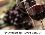 italian red wine tasting and... | Shutterstock . vector #699565570