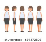 front  side  back view animated ... | Shutterstock .eps vector #699572803