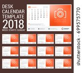 desk calendar for 2018 year.... | Shutterstock .eps vector #699575770