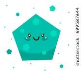 cute shape  turquoise pentagon  ... | Shutterstock .eps vector #699587644