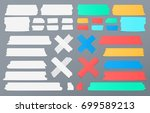 colorful and white different... | Shutterstock .eps vector #699589213