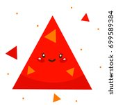 cute shape  red triangle ... | Shutterstock .eps vector #699589384