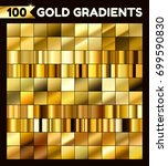 big golden metal pack.... | Shutterstock .eps vector #699590830