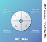 paper white circular pie chart... | Shutterstock .eps vector #699591700
