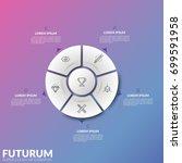 circular diagram divided into 5 ... | Shutterstock .eps vector #699591958