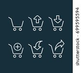 thin line shopping trolley... | Shutterstock .eps vector #699595594