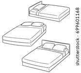 vector set of bed | Shutterstock .eps vector #699601168