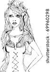 vector illustrated bride...   Shutterstock .eps vector #69960298