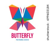 low poly logo icon symbol... | Shutterstock .eps vector #699603184