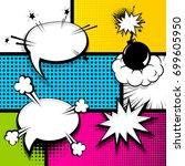 pop art comics book magazine... | Shutterstock .eps vector #699605950