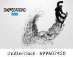 silhouette of a snowboarder...   Shutterstock .eps vector #699607420