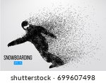 silhouette of a snowboarder... | Shutterstock .eps vector #699607498