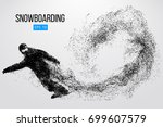 silhouette of a snowboarder... | Shutterstock .eps vector #699607579