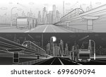 city infrastructure transport... | Shutterstock .eps vector #699609094