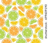 seamless vector pattern with... | Shutterstock .eps vector #699609190