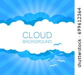 clouds in the sky with sun rays.... | Shutterstock .eps vector #699612364