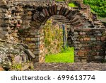 view of roman theatre   ancient ... | Shutterstock . vector #699613774