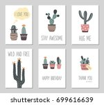 vector hand drawn cactus and...
